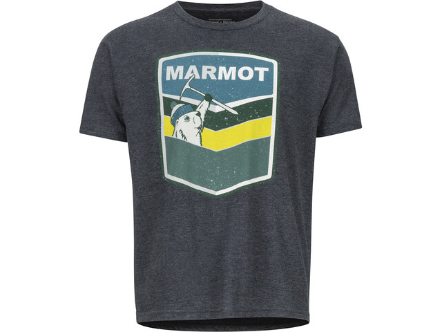 Marmot Retro Maillot à manches courtes Homme, charcoal heather